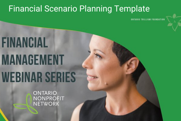 Image showing left side of Betty Ferreira's face and title: Financial Scenario Planning Template