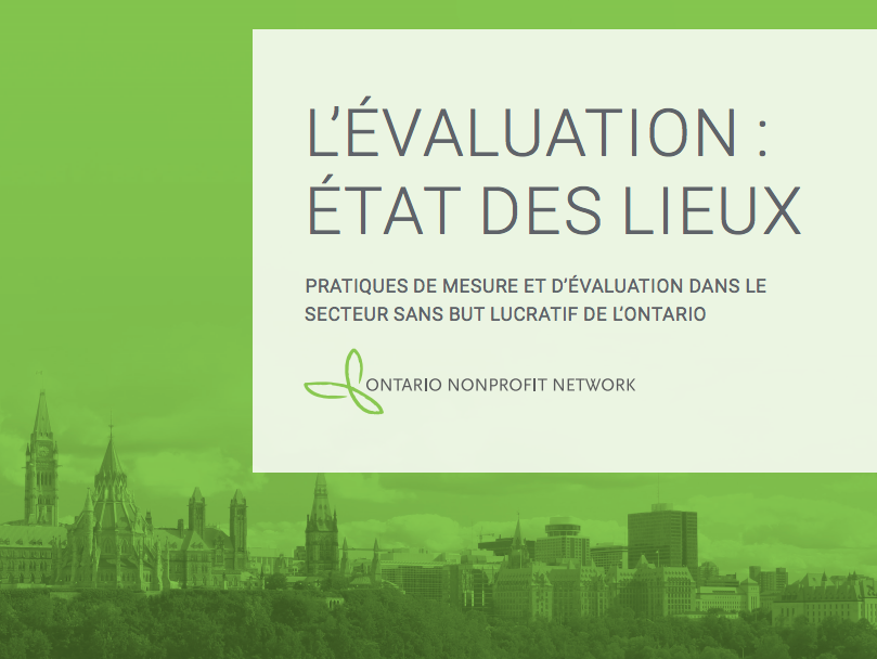 L'évaluation: état des lieux: Title page with photo of Parliament Hill (in Ottawa) in background