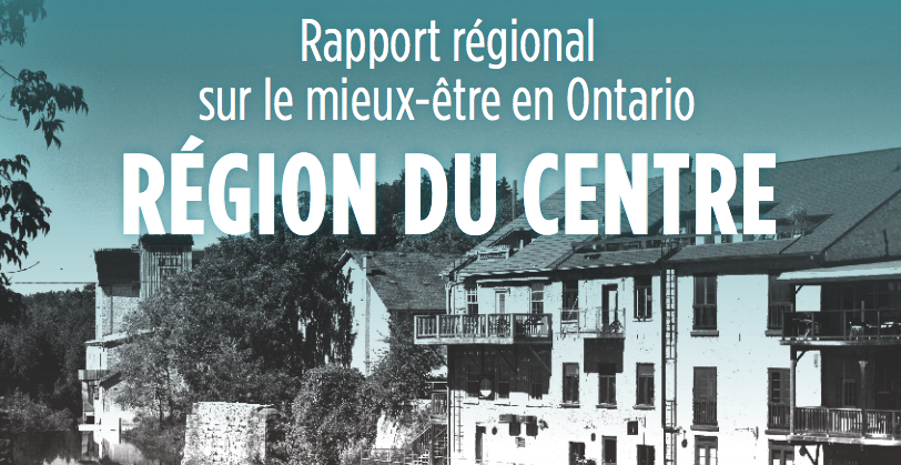 Region du centre: title text with photograph of canal and buildings in background