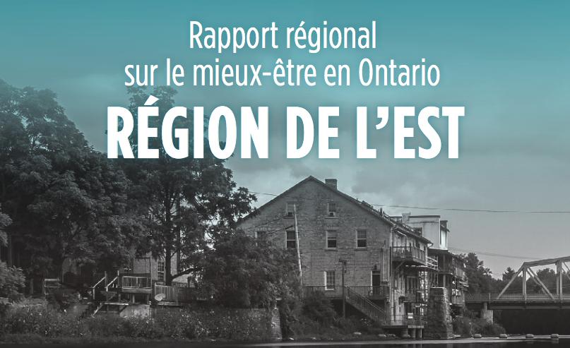 Region de l'est: title text with photograph of building and bridge in background