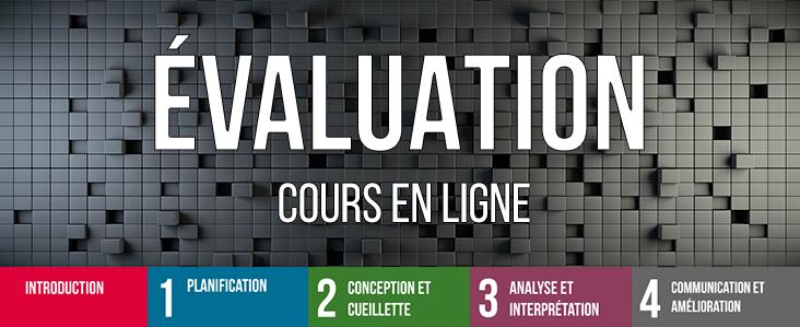 Evaluation - cours en ligne: Title page text
