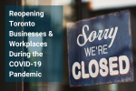 """Photo of a glass window with a sign saying, """"Sorry, we're closed"""""""