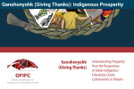Title image for Ganohonyohk (Giving Thanks): Indigenous Prosperity project. Has name of project as well as description from Ontario Federation of Indigenous Friendship Centres.